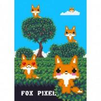 Fox pixel. Тетрадь школьная...